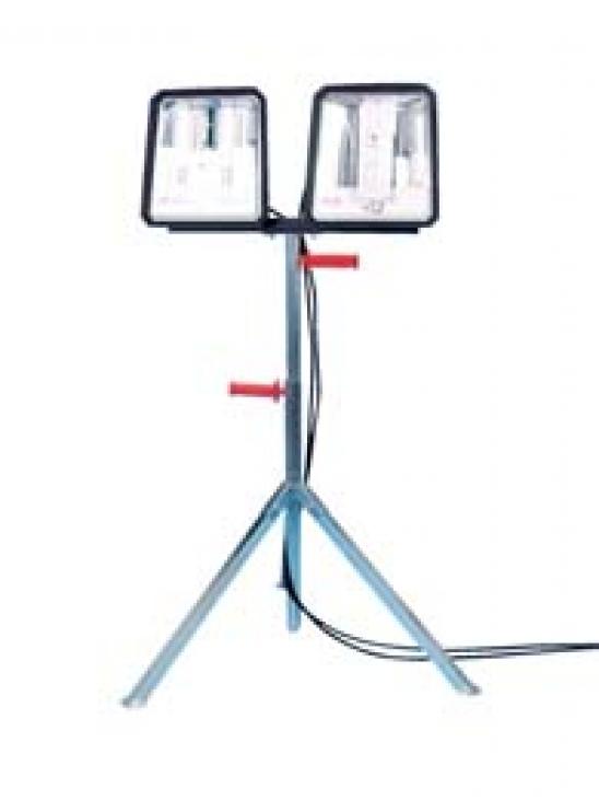 Cavalletto H.mt.1 a 2,4 +2 Lampade W144 Antiurto da Cantiere